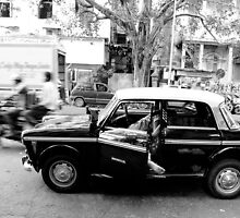 a taxi driver sleeping in his taxi by Erdj