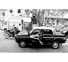 a taxi driver sleeping in his taxi Photographic Print