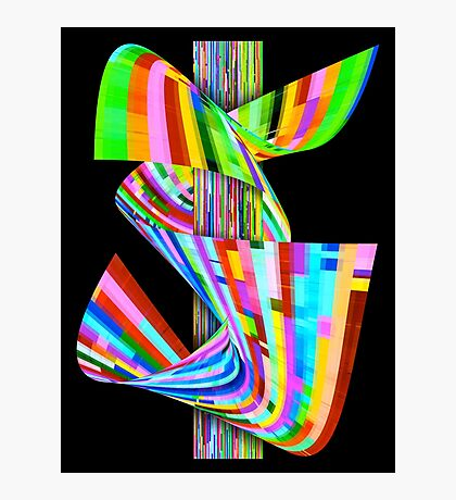 Ribbons of Digital DNA Photographic Print