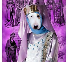 Bull Terrier Art - Princess by NobilityDogs