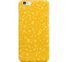 Creepy Crawly Pattern - Yellow iPhone Case/Skin