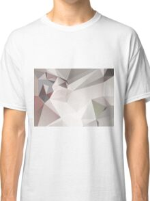 Abstract white gray triangles Classic T-Shirt