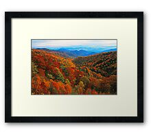 AUTUMN VALLEY Framed Print
