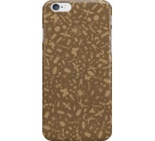 Creepy Crawly Pattern - Brown iPhone Case/Skin