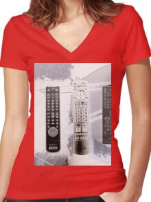 Remote: Take Control of your Life Women's Fitted V-Neck T-Shirt
