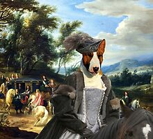 Bull Terrier Art - Philippe Francois d'Arenberg meeting Troops by NobilityDogs