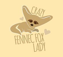 Crazy Fennec Fox Lady by jazzydevil