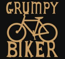 Grumpy BIKER! with bicycle One Piece - Short Sleeve