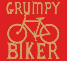 Grumpy BIKER! with bicycle Kids Tee