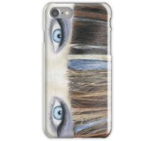 Blue Eyes Coloured Pencil Drawing (Natural Colour) iPhone Case/Skin