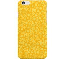 Flower & Butterfly Pattern - Yellow iPhone Case/Skin
