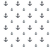 Navy Anchors Photographic Print