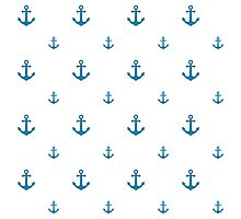 Blue Anchors Photographic Print