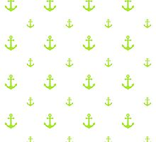 Lime-Green Anchors by ImageNugget