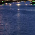 Dublin Bridge At Night by Sharon Brady
