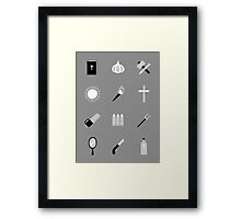 B-Movie Survival Kit Framed Print