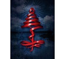 Christmas tree ribbon Photographic Print