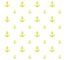 Chartreuse Anchors Photographic Print