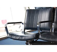 Lonely airport chair  Photographic Print