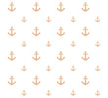 Peach Anchors Photographic Print