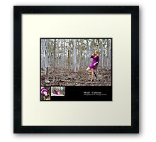 August 2010 Model Catherine Framed Print