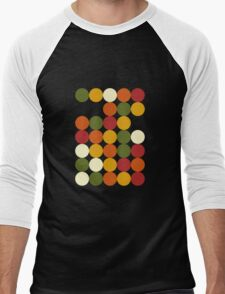 Sun color dots Men's Baseball ¾ T-Shirt