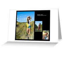 January 2010 Model Kyla Greeting Card