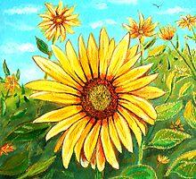 Golden Sunflower by © Linda Callaghan