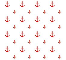Red Anchors Photographic Print