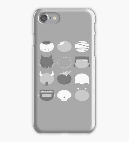Minimalist B-Movie Monsters iPhone Case/Skin