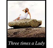 Once.. Twice... Three times a Lady Calendar Cover V1 Photographic Print