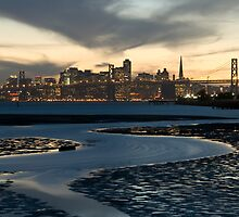 Facing West, Middle Harbor, Oakland, California by Cathy P. Austin