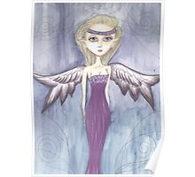 Fantasy big eyed Angel artwork Poster