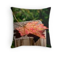 Falling alone Throw Pillow