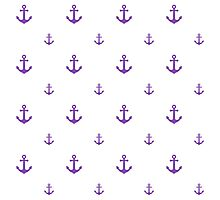 Light-Purple Anchors Photographic Print