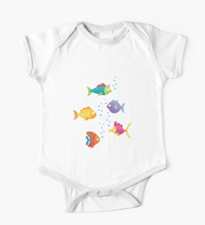 color fishes One Piece - Short Sleeve