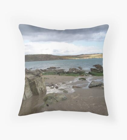 Three colours of blue Throw Pillow