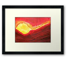Wildfire original painting Framed Print