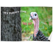 It's Turkey Time Poster