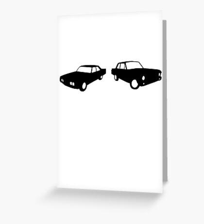 vintage 70´s cars Greeting Card