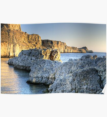 Seascape at St. Paul's Beach Poster