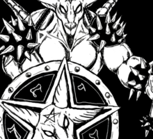 Baphomet Mace Wielder Black Sticker