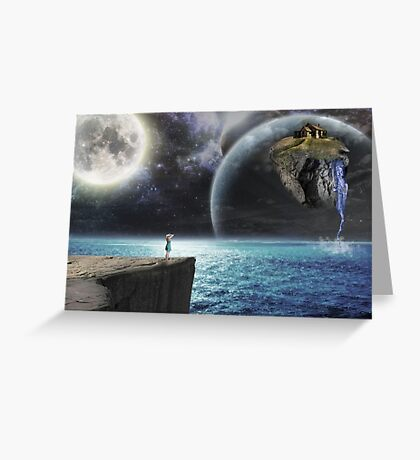 Shattered earth Greeting Card