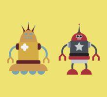 robot love in color Kids Tee