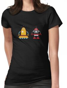 robot love in color Womens Fitted T-Shirt