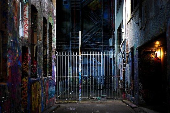 Graffiti fence by KerrieMcSnap