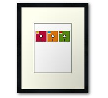floppy color Framed Print