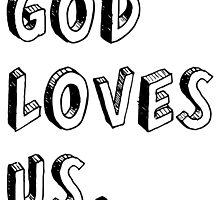 God loves us - Black by Thalita Silva