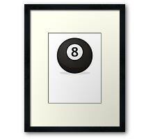 ball 8 Framed Print