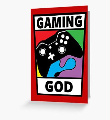 Gaming God Greeting Card